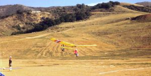 Escape Country 500 foot hang glider launch in view
