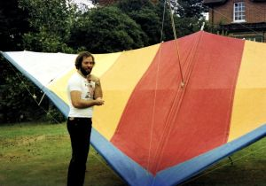 John Rutledge with a Birdman Firebird S hang glider