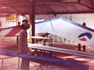 Mark Southall with a Moonraker 78 hang glider