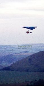 Roly in the Firebird with batten conversion at Monk's Down in 1976