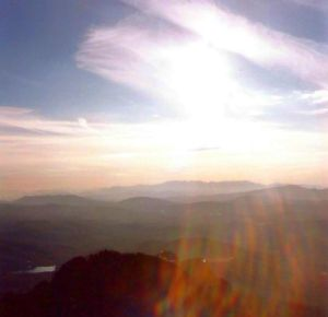 View from 6500 feet MSL over Grandfather Mountain