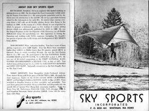 Early Sky Sports brochure