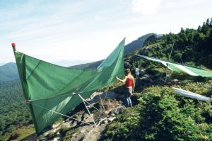 Hang gliders atop Grandfather Mountain
