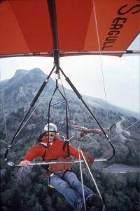 John McNeely flying with his hawk in 1978