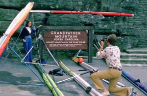 Posing for a photo at Grandfather Mountain in September 1975