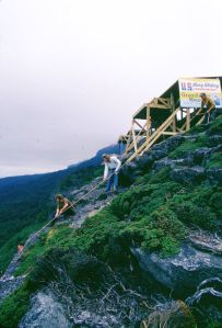 Haulage crew of  a downed wing at Grandfather Mountain in September 1975