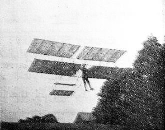 Patrol Leader Smith or Beard of East Grinstead Scouts flying a Chanute type in 1912