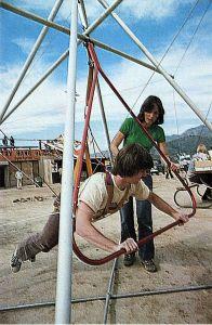 Early 1970s hang gliding simulator