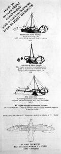Flight Designs harness advert in Glider Rider, December 1979