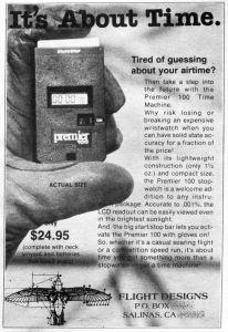 Flight timer advert in Glider Rider, June 1979