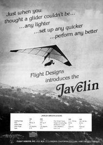 Javelin advert in Glider Rider