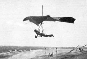 Jeanne Bauer in a Seagull Seahawk hang glider