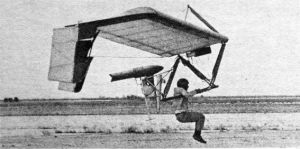 Ted Ancona lifts off in a jet powered Icarus V in 1981