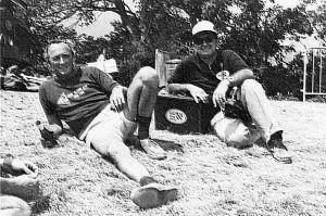 Bill Moyes and Bill Bennett at Grenoble,France, in 1979