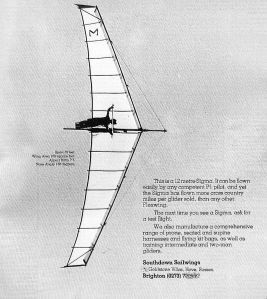 Southdown Sailwings Sigma advert in August 1980