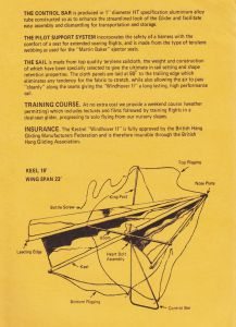 Page from the 1974 Kestrel Kites brochure