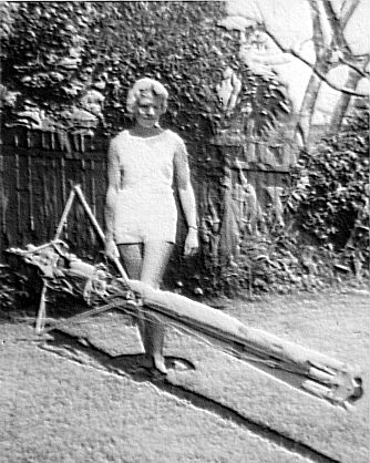 Amy Dickenson with John's 1965 wing