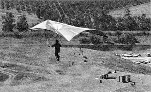 Standard Rogallo approaches the Escape Country LZ