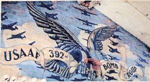 USAAF wall mural at RAF Wendling