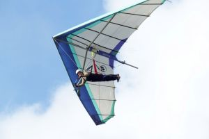 Roly Lewis-Evans flying at Kimmeridge